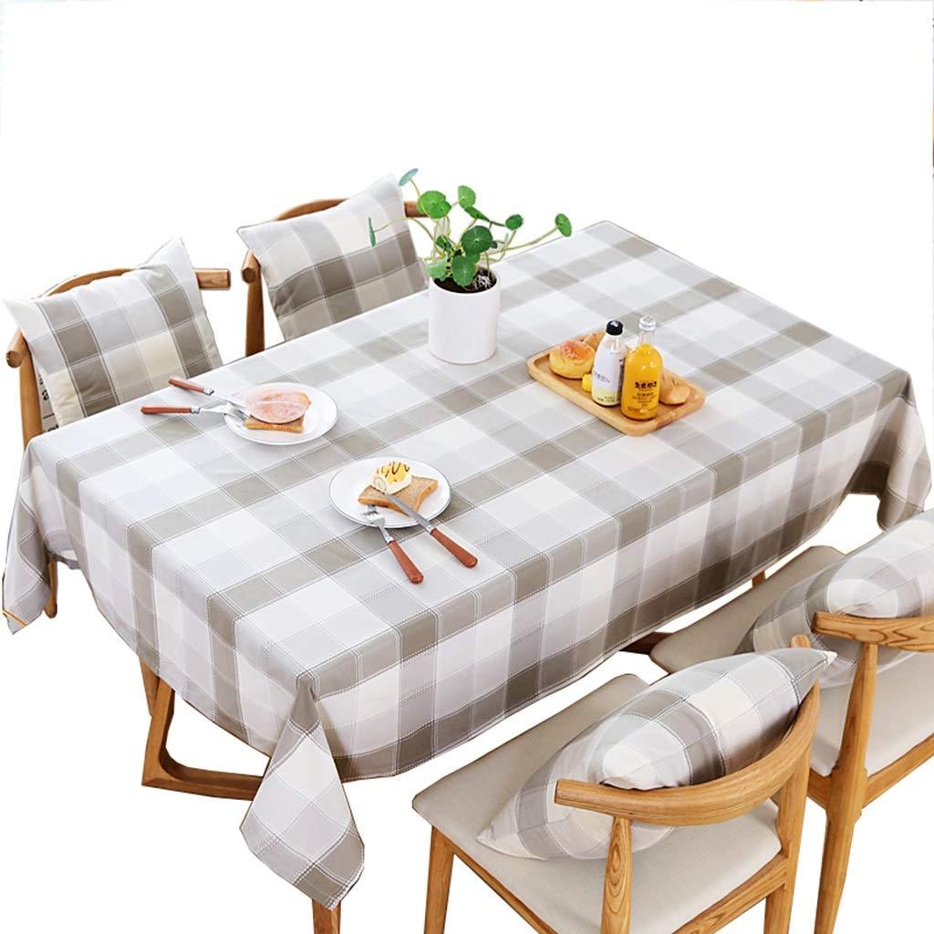 YTJ-JP ヨーロッパの牧歌的なスタイルのテーブルクロス、長方形の格子テーブルカバー、綿と麻の布地、防水のやけど防止オイル、ダイニングテーブルコーヒーテーブルドレッシングテーブル長方形のテーブル (Size : 135 × 190cm) 135 × 190cm  B07SS1JVYZ