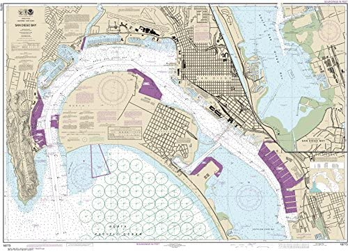"MapHouse NOAA Chart 18773 San Diego Bay: 35.27"" X 48.76"" Paper Chart"