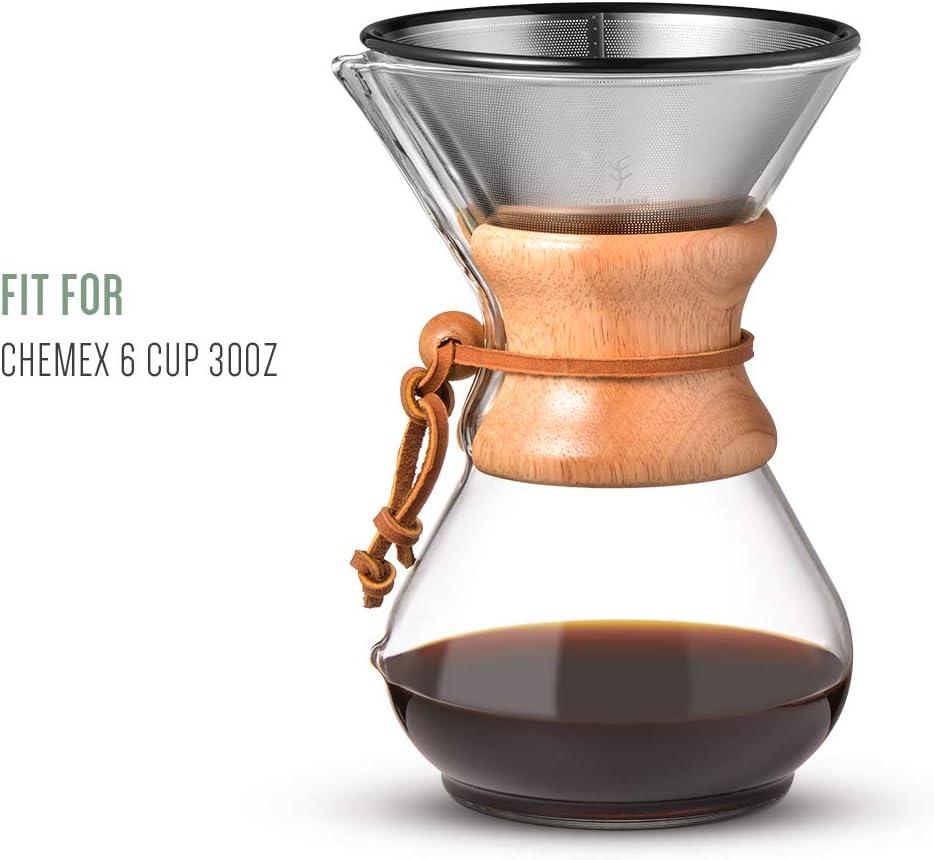 soulhand Pour Over Filter para Chemex, gotero Reusable de café de ...