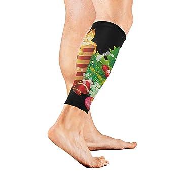 amazon com leg sleeve clipart christmas candles compression socks