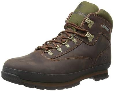 Timberland Mens Euro Hiker Leather Boots  Knit Cap Bundle  B0767N6KJR