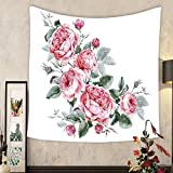 Grace Little Custom tapestry classical vintage floral greeting card watercolor bouquet of english roses beautiful watercolor
