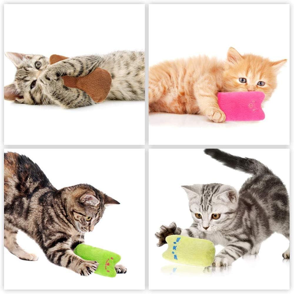 Giochi al Gatti Giocattoli Interattivi Cat Giocattolo da Masticare per Gattino Gatto Gattino 5 PCS MQIAN Catnip Giocattoli per Gatti