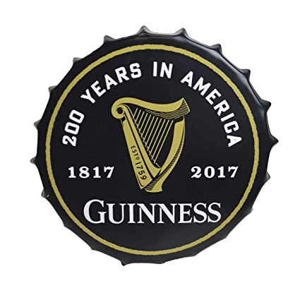 Amazon.com  Guinness Bottle Cap Sign-200th Anniversary  Home   Kitchen ca37b622575