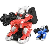7TECH Remote Control Battle Robot Infrared Drift Intelligent Warrior With Light And Music-2 Packs in Blue&Red