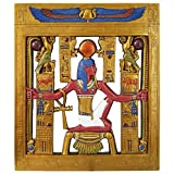 Design Toscano Tutankhamen Cartouche Sculptural Wall Frieze