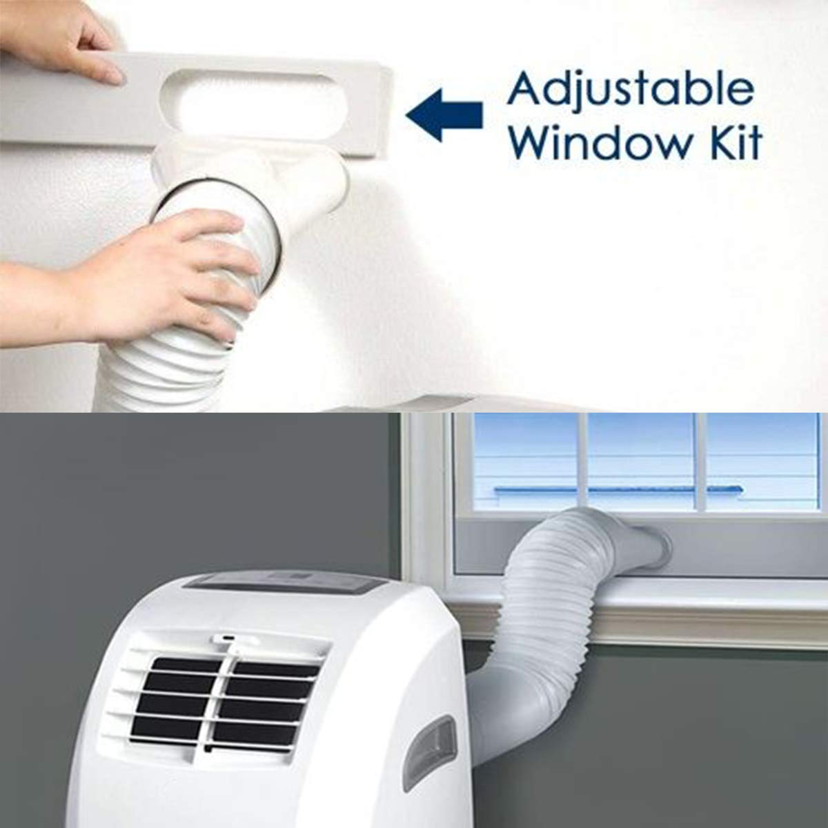 Forestchill Portable A//C Window Kit Replacement Window Adapter Adjustable Window Sealing Plate