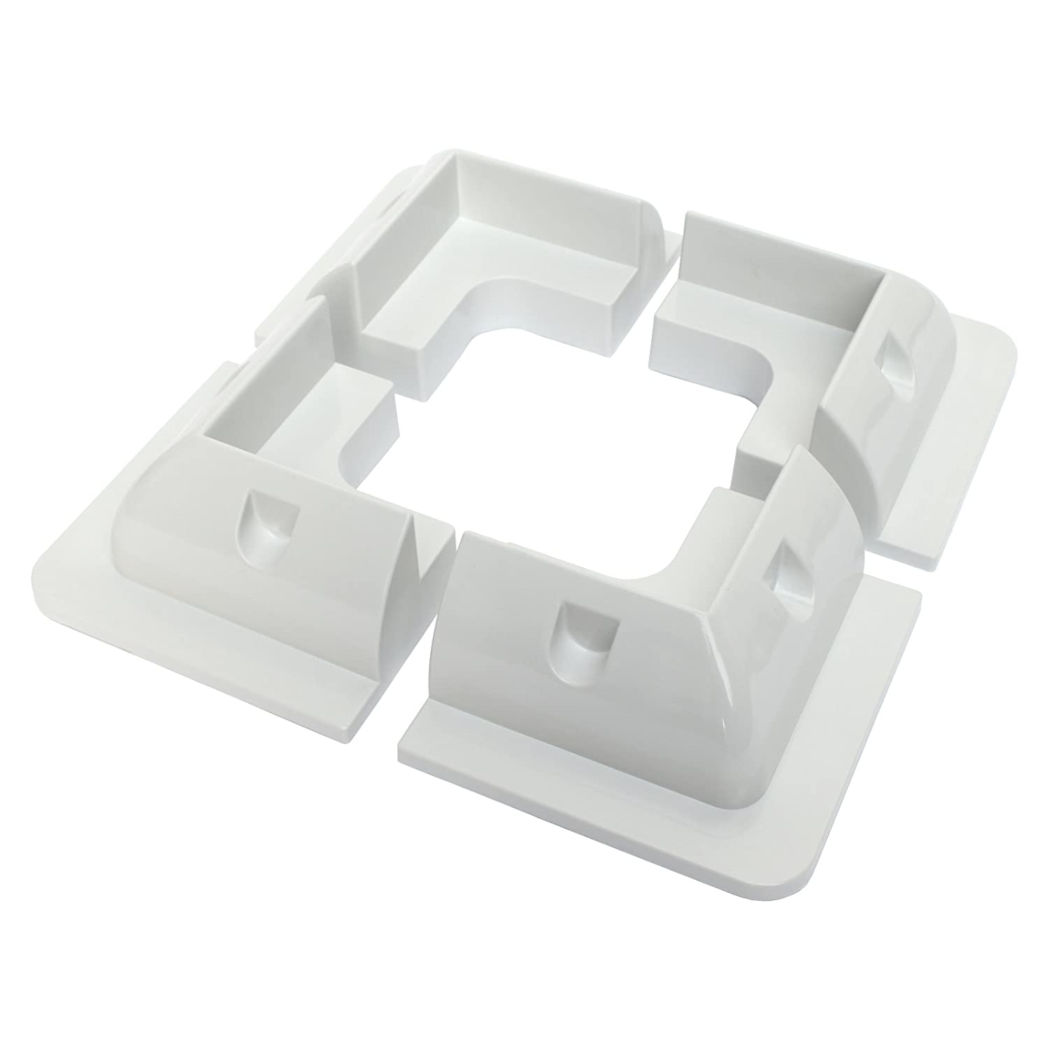 Set of 4 corner plastic mounting brackets for fixing solar panels to motorhomes, campervans, caravans, boats or any other roofs and flat surfaces Photonic Universe