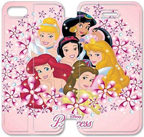 Flip étui en cuir PU Stand pour Coque iPhone 5 5S, bricolage 5 5S cas de téléphone cellulaire Princesse Contexte H8F8KI Tuatara Coque iPhone couvertures de cuir