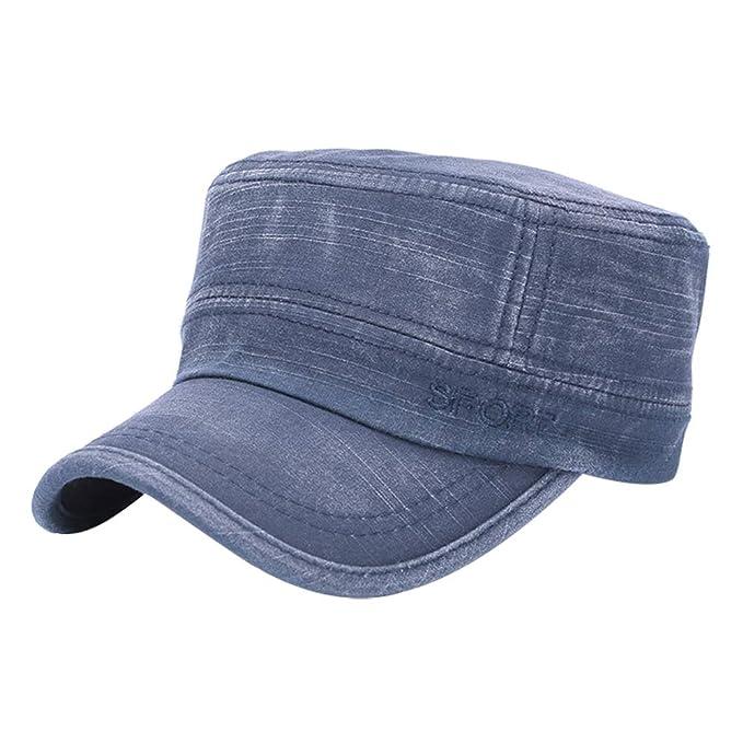 Gysad Simplicidad madura Gorras Planas Cómodo Gorras Hombre Newsboy Hat Boina de Hombre Sombrero Size 55