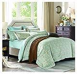 Silk Camel Luxury 300TC 100% Cotton 3-Piece Bedding Set - 1 Duvet Cover 2 Pillow Shams (Tylis - King Size)