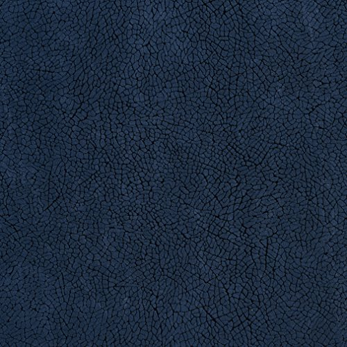 Navy Mosaic Dark Blue Plain Solid Microfiber Microsuede Velvet Performance Grade Upholstery Fabric by the yard