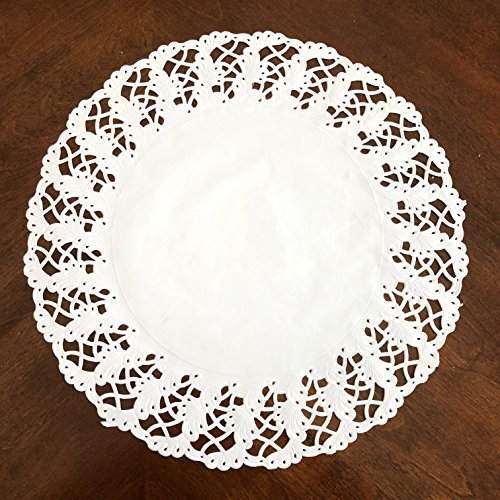 50Pcs White Lace Paper Doilies, Round (14.5 Inch) by KARMELLING