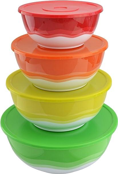Amazoncom Surpahs Melamine Plastic Nested Mixing and Prep Bowl