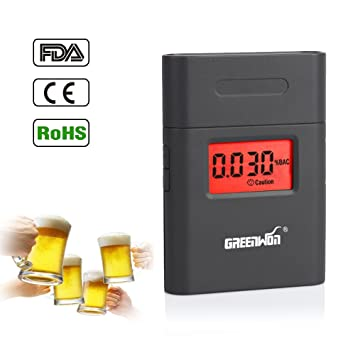 Prefessional Police Portable Breath Alcohol Analyzer Digital Breathalyzer Tester Body Alcoholicity Meter Alcohol Detection Alcohol Tester Travel & Roadway Product