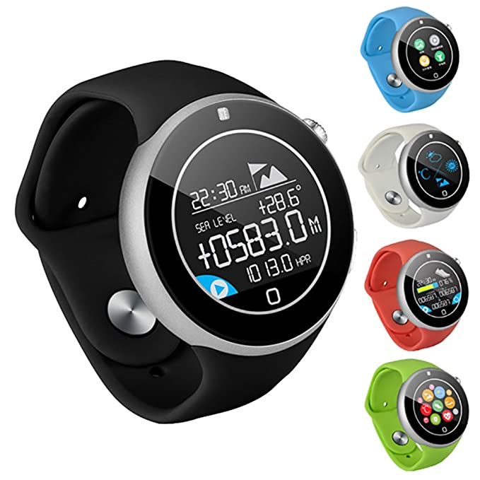Amazon.com: Heart Rate Monitor Smart Watch C5 Waterproof IP67 Sport Pedometer Bluetooth Smartwatch for iOS Android Support SIM Card (Green): Cell Phones & ...