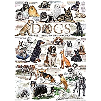 Amazoncom Cobble Hill Dog Quotes Jigsaw Puzzle 1000 Piece By