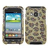 Asmyna SAMI547HPCDM113NP Dazzling Diamond Diamante Case for Samsung Galaxy Rugby Pro i547, 1-Pack, Retail Packaging, Leopard Skin