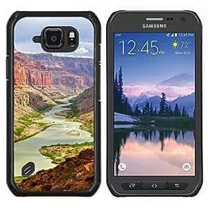 Caucho caso de Shell duro de la cubierta de accesorios de protección BY RAYDREAMMM - Samsung Galaxy S6Active Active G890A - gran Cañón