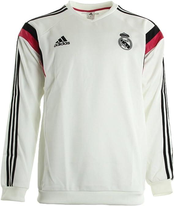 2014-15 Real Madrid Adidas Sweat Top (White): Amazon.es: Deportes y aire libre