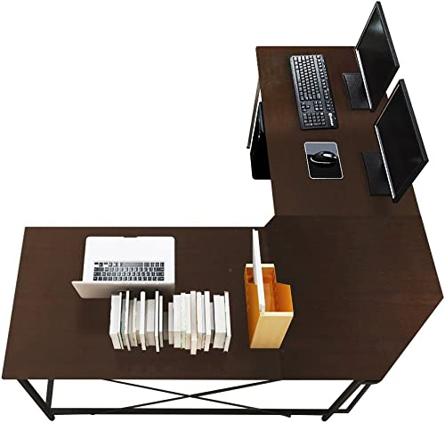 Soges Large L-Shaped Office Desk and Workstation