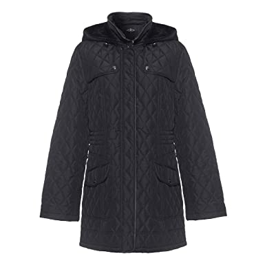 4d22c9db51955 David Barry Womens Hooded Quilted Winter Jacket
