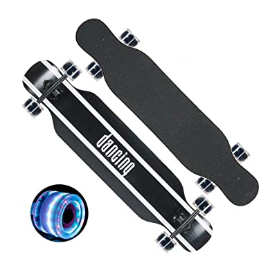 Aniseed Skateboards Longboards Drop Through Downhill/Cruiser Freeride Complete Longboard 42.1 X 9.8 Inch Bamboo Article Black Letters : Sports & Outdoors