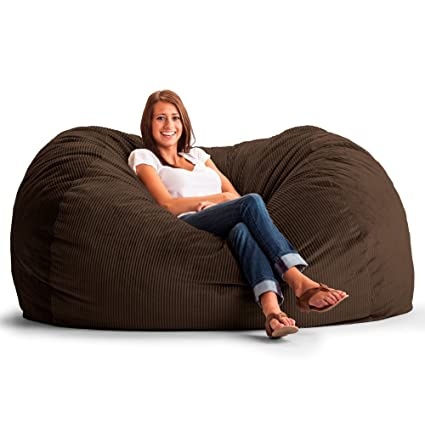 Fuf Extra Large Bean Bag Sofa Fabric: Wide Wale Corduroy Chocolate