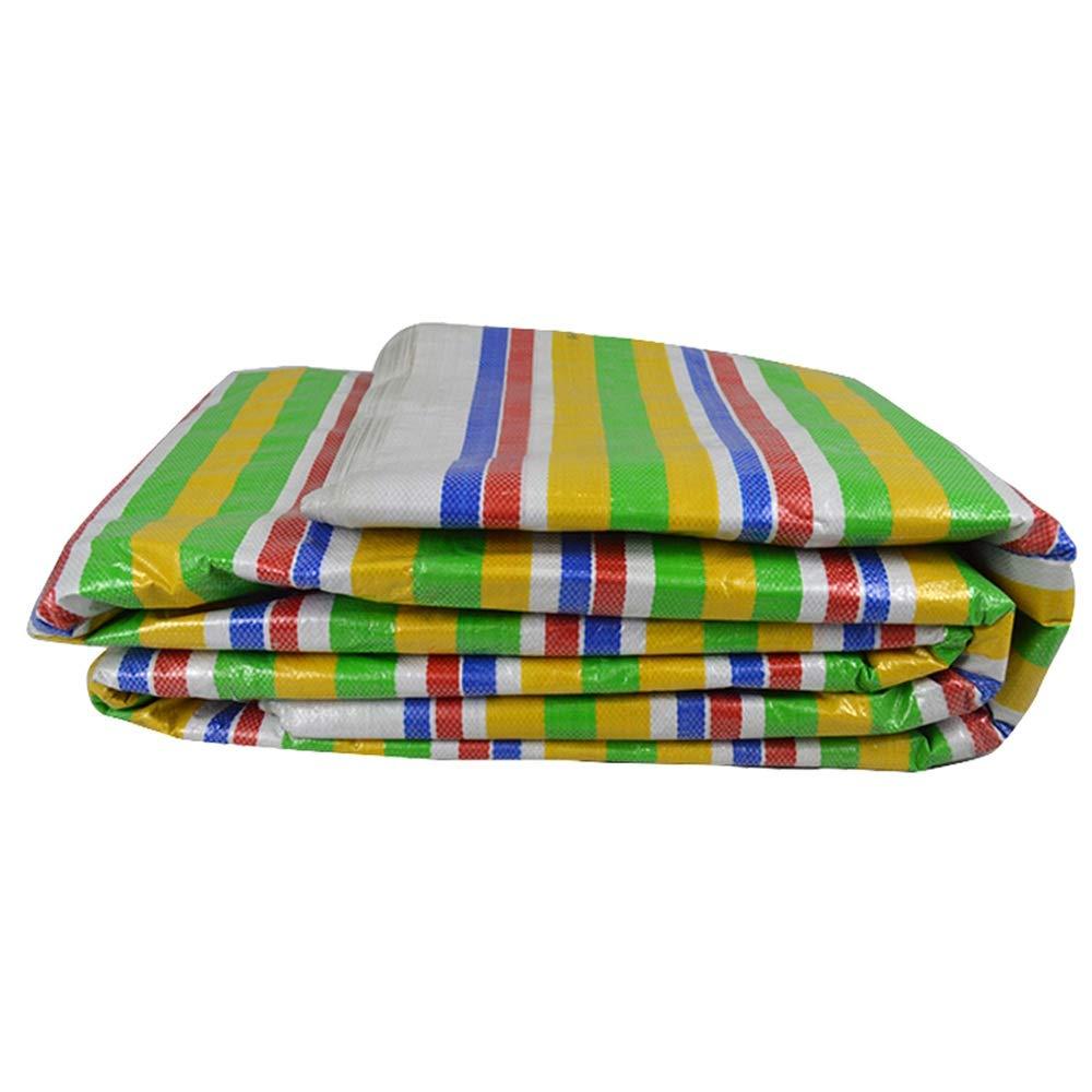Wasserdichte Plane, fünf Farbstreifen, regensicher, dick, wasserdicht, sandgesichert, Kunststoff, Sonnenschutz, Markise (größe   4  20m)