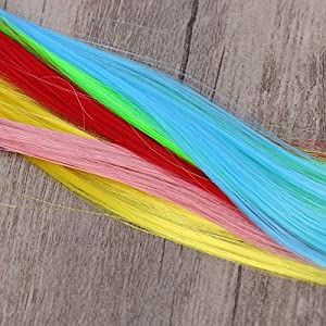 """Frcolor 10pcs Colored Clip in Hair Extensions 22"""" Straight Fake Hair Pieces Fashion Hairpieces for Party Highlights (Random Color)"""