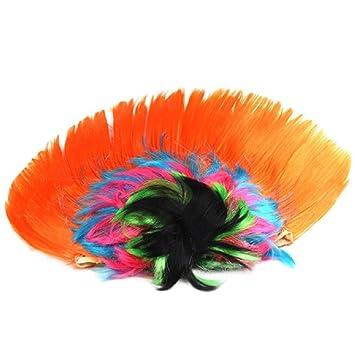 Ularma Peluca cresta Halloween Masquerade, peinado de mohicano Punk (C)