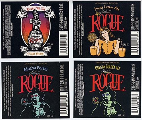 Brewery Rogue (DTA SECURED BY ROGUE STATUS Set of Rogue Ales Newport Oregon Brewery Bottle Labels)