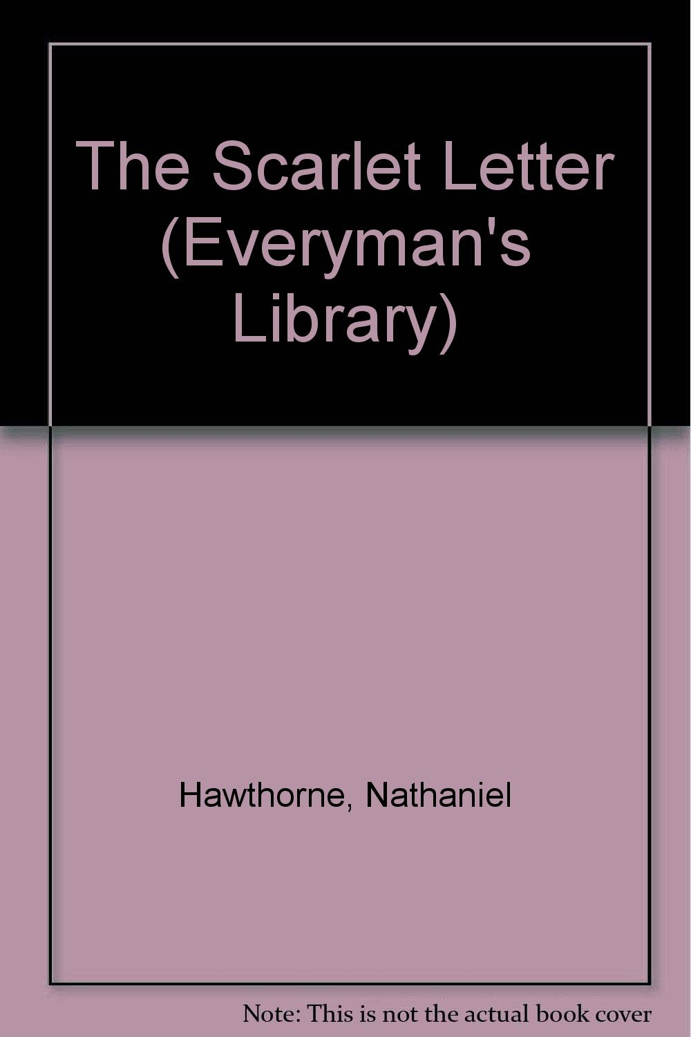 The scarlet letter everymans library amazon books madrichimfo Images