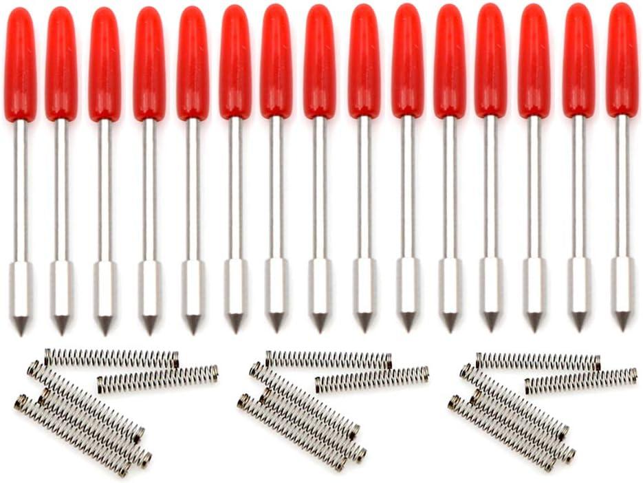 Protoon 15 unids CB09 45 Grados Graphtec Blade para CB09 CB09U Graphtec Hoja Plotter Cortador de vinilo Silueta Cameo con soporte de hoja Base: Amazon.es: Bricolaje y herramientas