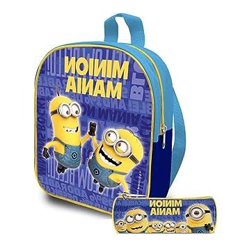 Kids Euroswan - Minions MN16114. Set mini mochila 24cm + portatodo 22cm.
