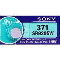 Sony 371 (SR920SW) 1.55V Silver Oxide 0%Hg Mercury Free Watch Battery (1 Battery)
