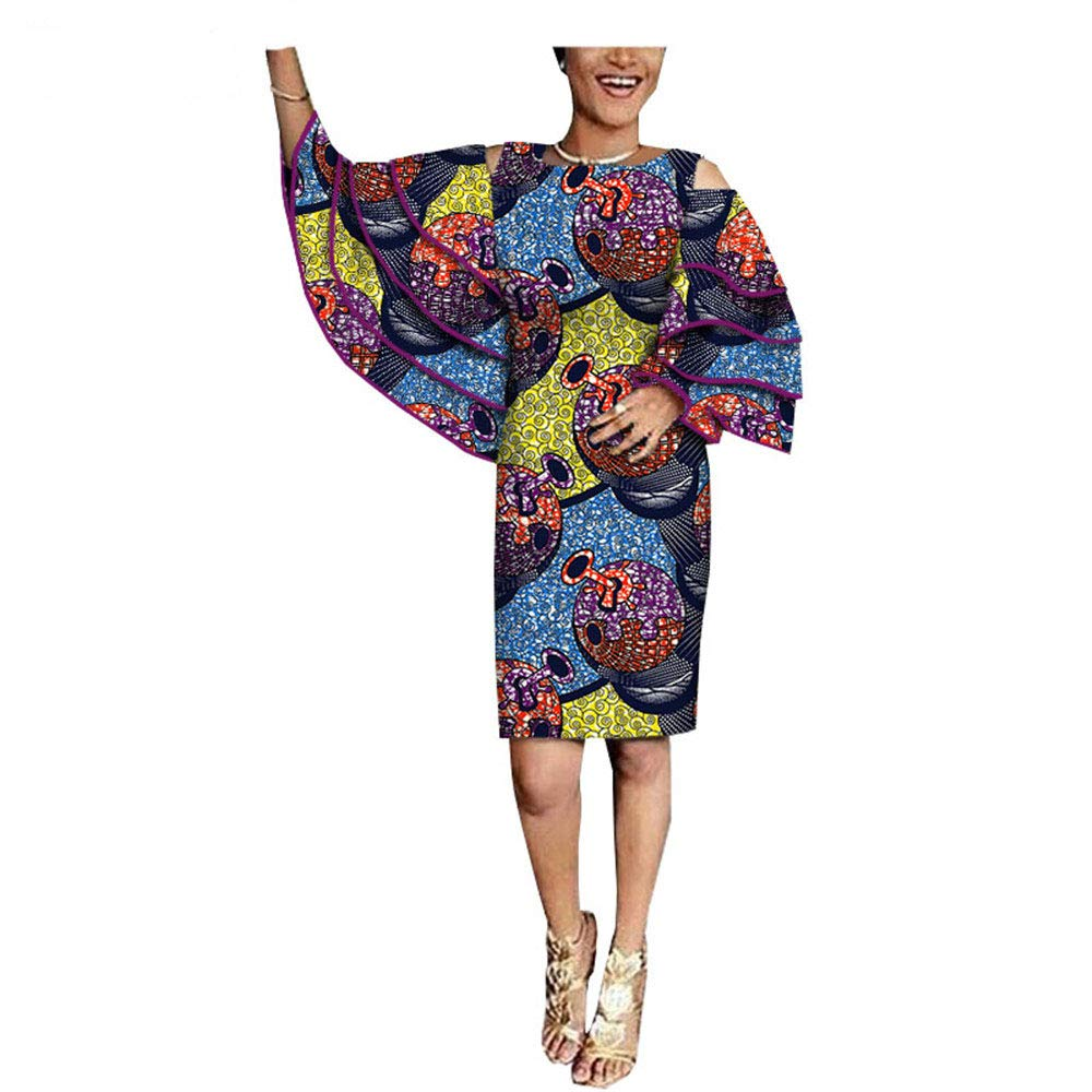 494 2 African Dresses for Women Ankara Dashiki Clothing Skirts Wax Print Formal