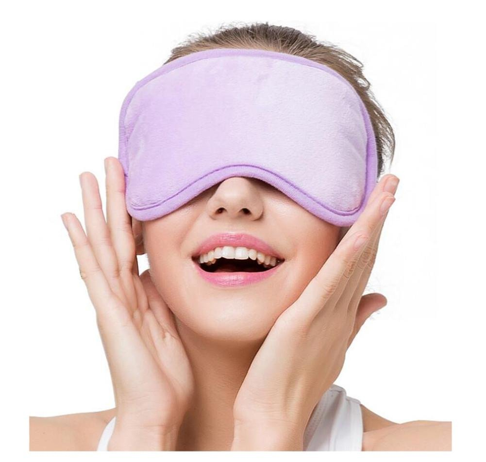 WE&ZHE Hot Compress Eye Cover Electric Sleep Goggles - USB Jack + Third Gear Temperature Control Switch - to Relieve Eye Fatigue and Eliminate The Dark Circles, Purple by WE&ZHE
