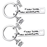 New Home Keychain 2020 Housewarming Gift for New Homeowner House Keyring Moving in Key Chain New Home Owners Jewelry from Rea