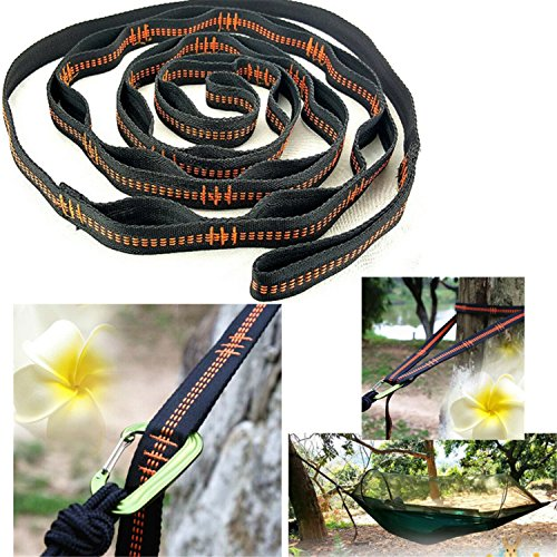 Shalleen Hammock Strap adjustable Tree Hanging Heavy Duty Extension suspension system Y (Emu Outdoor Furniture Sale)