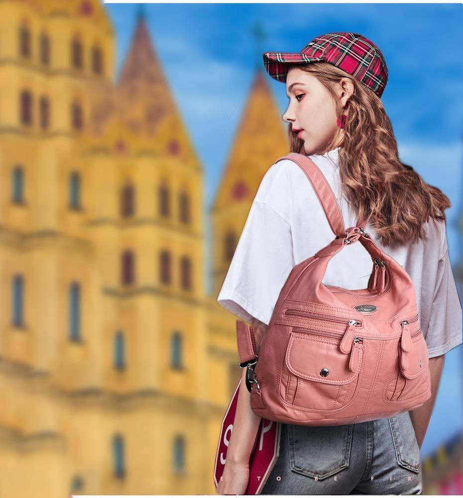 Ysswjzz Axelväskor Kvinnor, Multifickor Casual Cross Body Väska Resa Väska Messenger Handväska för shopping c