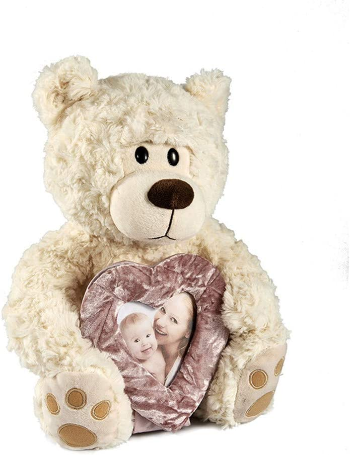 PERSONALISED Custom PHOTO Brown Teddy Bear Gift TEXT Wedding Birthday Party Toy
