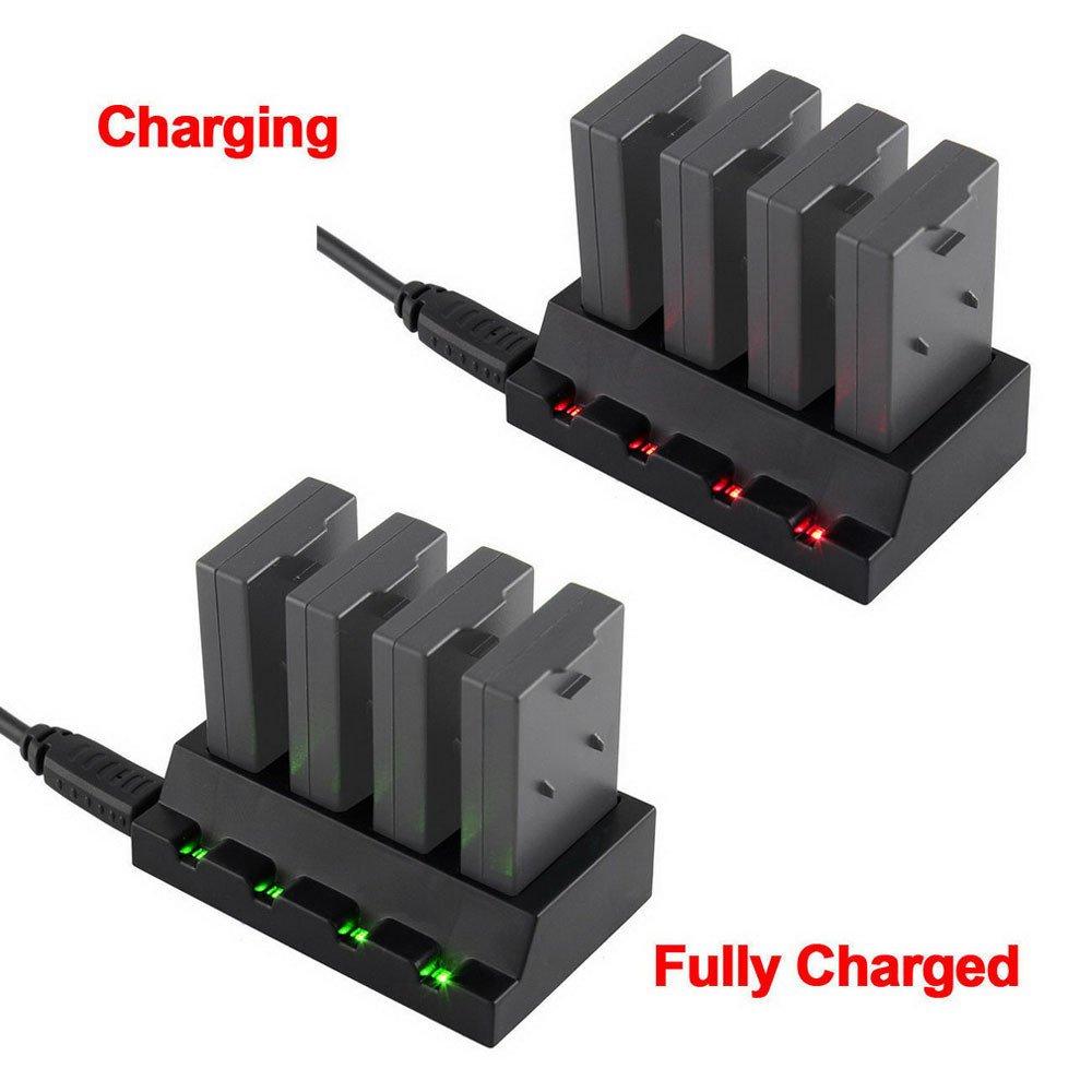 Malloom Adaptador de Puerto USB 4 Puertos 3.7V Cargador de batería ...