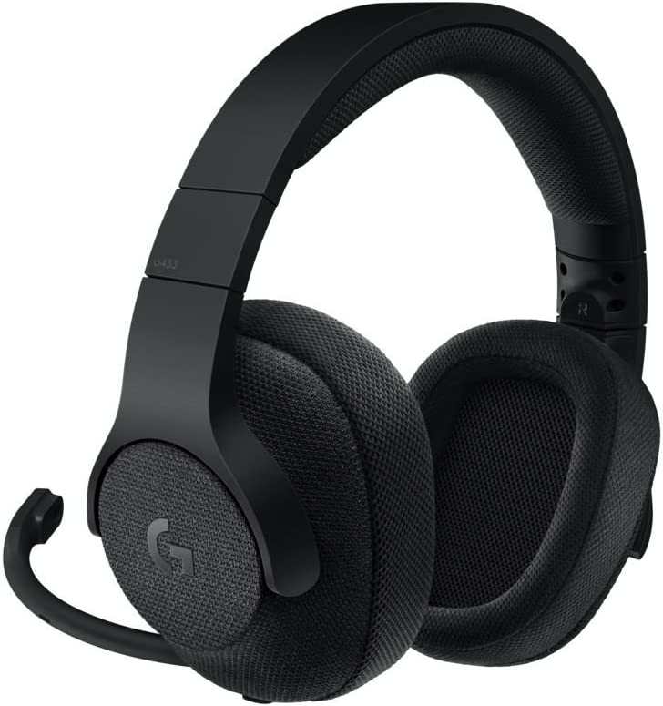 Logitech G433 Auriculares Gaming con Cable, Sonido 7.1 Surround, DTS Headphone:X, Transductores 40mm Pro-G, Peso Ligero, USB y Jack Audio 3, 5mm, PC/Mac/Nintendo Switch/PS4/Xbox One, Negro