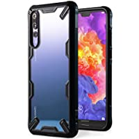 Huawei P20 Pro Case, Ringke [FUSION-X] Ergonomic Transparent [Military Drop Tested Defense] Hard PC Back TPU Bumper Impact Resistant Protection Shock Absorbent Cover for Huawei P 20 Pro (2018) - Black