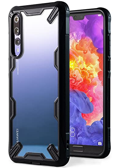 f4a381bd92e47 Ringke  Fusion-X  Compatible with Huawei P20 Pro Ergonomic Transparent   Military Drop