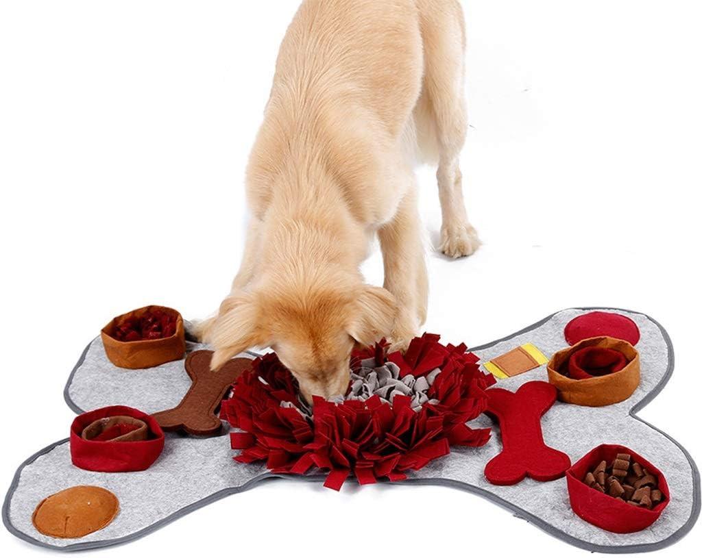 Nabance Snuffle Mat para Perros Alfombra Olfato Perro Mat Alfombra olfativa de Actividades para Mascotas fomenta Las Habilidades Naturales de forrajeo Colchonetas para Resbalar