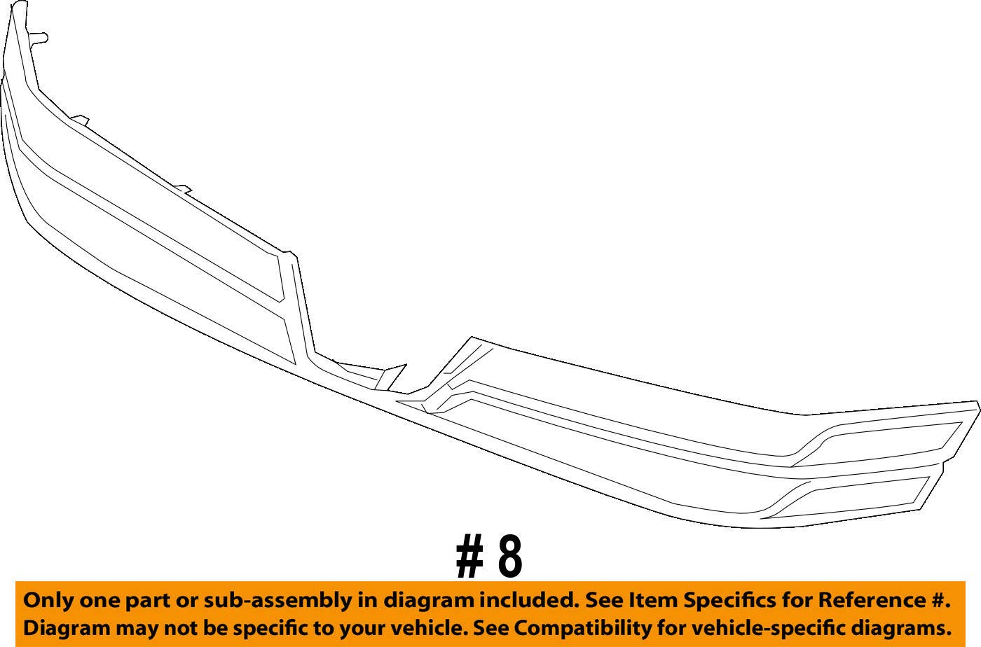 Front Genuine Honda 71125-TR2-A01ZB Grille Molding