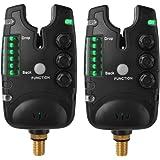 XCSOURCE 2pcs Seneitive Electronic Fishing Bite Alarm Indicator LED Sound Alert Loud Siren and Flashing Light Alarm