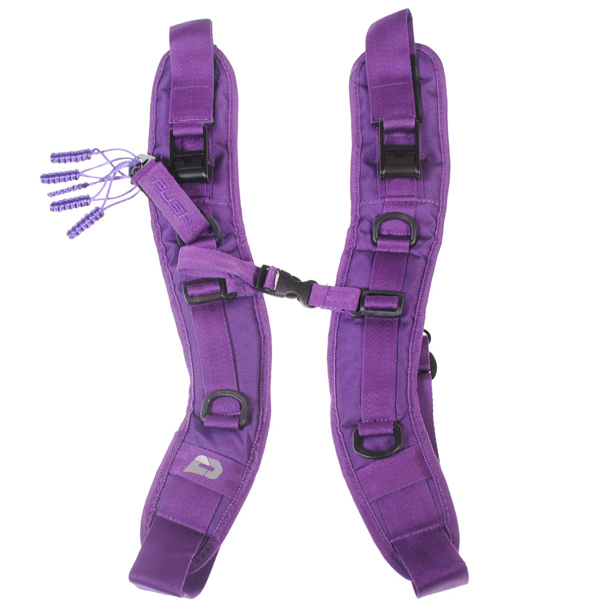 PUSH Paintball Backpack and Div1 Gear Bag Strap Kit (Purple)